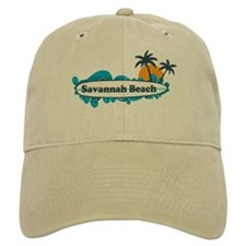 Savannah Beach GA - Surf Design. Baseball Cap
