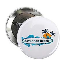 """Savannah Beach GA - Surf Design. 2.25"""" Button"""