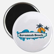 Savannah Beach GA - Surf Design. Magnet