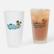 Savannah Beach GA - Surf Design. Drinking Glass