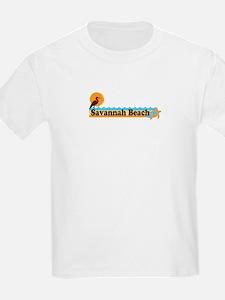 Savannah Beach GA - Beach Design. T-Shirt