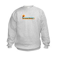 Savannah Beach GA - Beach Design. Sweatshirt
