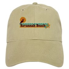 Savannah Beach GA - Beach Design. Baseball Cap