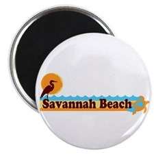 Savannah Beach GA - Beach Design. Magnet