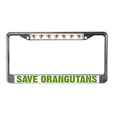 Save Orangutans License Plate Frame