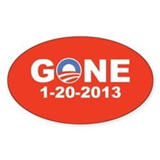 Obama Gone 1-20-2013, Pro Mitt Decal