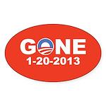 Obama Gone 1-20-2013, Pro Mitt Sticker (Oval)