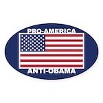 PRO America ANTI Obama Sticker (Oval)