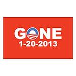 Obama Gone 1-20-2013, Pro Mitt Sticker (Rectangle)