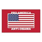 PRO America ANTI Obama Sticker (Rectangle)