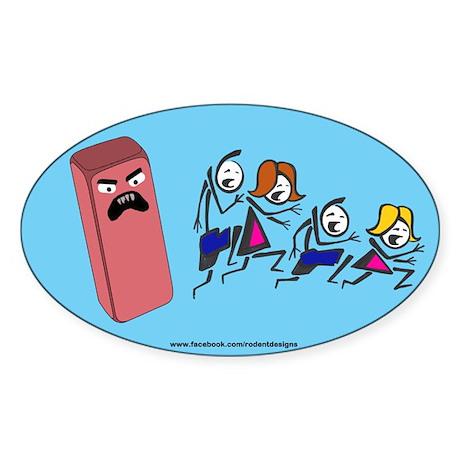 Eraser Stick Family Oval Sticker 1