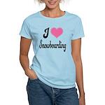 I Love Snowboarding Women's Light T-Shirt