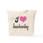 I Love Snowboarding Tote Bag
