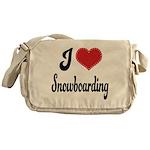 I Love Snowboarding Messenger Bag