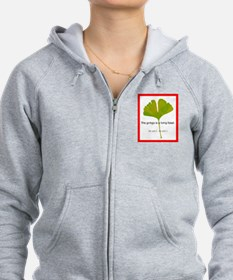 The ginkgo is a living fossil. As am I Zip Hoodie