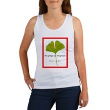 The ginkgo is a living fossil. As am I Women's Tan
