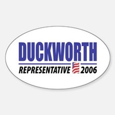 Duckworth 2006 Oval Decal