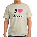 I Love Soccer Light T-Shirt