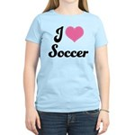 I Love Soccer Women's Light T-Shirt