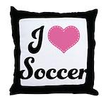 I Love Soccer Throw Pillow