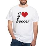 I Love Soccer White T-Shirt