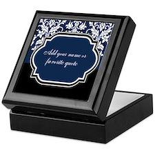 Customizable Damask Keepsake Box