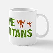 Save Orangutans Small Mugs