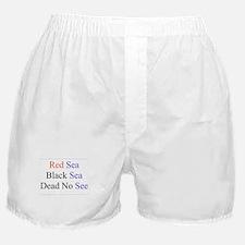 Israel Red Black Dead Seas Boxer Shorts