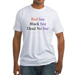 Israel Red Black Dead Seas Fitted T-Shirt