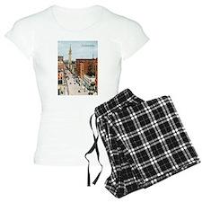 Vintage Colorado Street Scene Pajamas