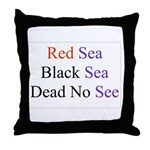 Israel Red Black Dead Seas Throw Pillow