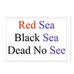 Israel Red Black Dead Seas Postcards (Package of 8