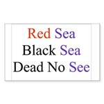Israel Red Black Dead Seas Rectangle Sticker