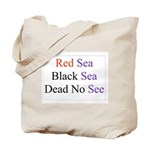 Israel Red Black Dead Seas Tote Bag
