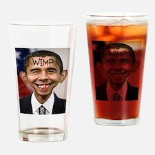 OBAMA WIMP Drinking Glass