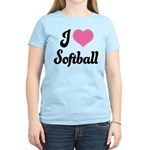 I Love Softball Women's Light T-Shirt