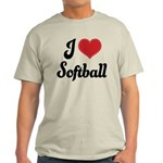 I Love Softball Light T-Shirt
