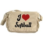 I Love Softball Messenger Bag
