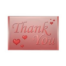Thank you - pink Rectangle Magnet