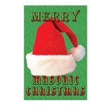 Merry Masonic Christmas Postcards (Package of 8)