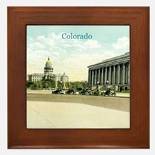 Vintage Colorado State Capitol Framed Tile