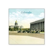 "Vintage Colorado State Capitol Square Sticker 3"" x"