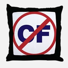Say NO to Cystic Fibrosis Throw Pillow