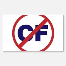 Say NO to Cystic Fibrosis Sticker (Rectangle)