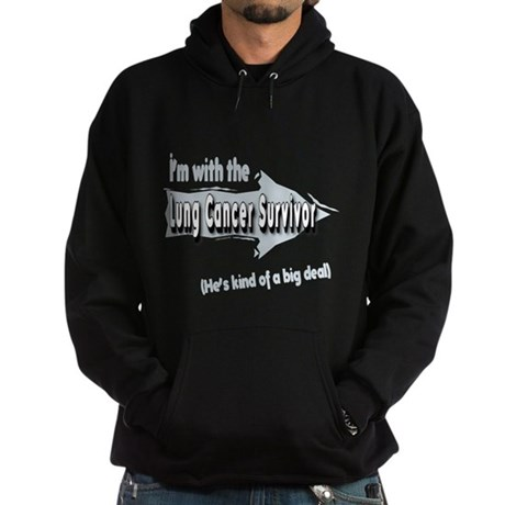 With Male Lung Cancer Survivor on my left Hoodie (