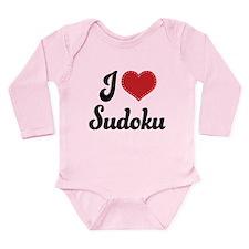 I Love Sudoku Long Sleeve Infant Bodysuit