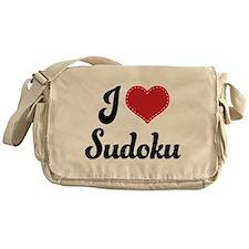 I Love Sudoku Messenger Bag