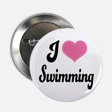 "I Love Swimming 2.25"" Button"