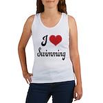I Love Swimming Women's Tank Top