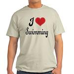 I Love Swimming Light T-Shirt